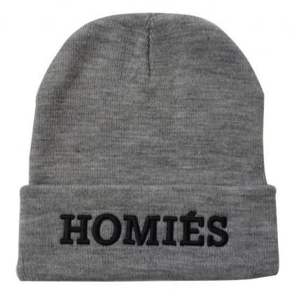 Homies print winter cotton girl hat