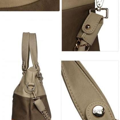 Tote chain strap PU leather woman h..
