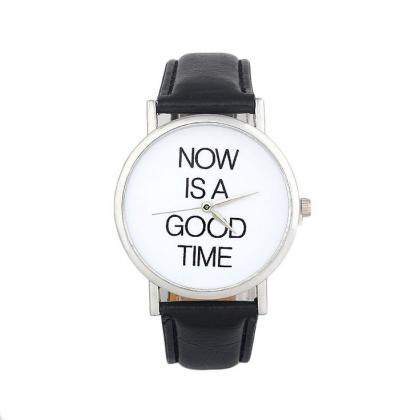 Now is a good time unisex black wat..