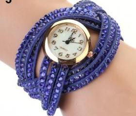 PU leather blue band..