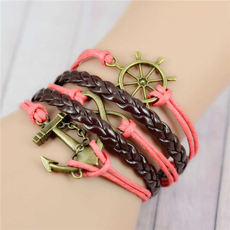 Pink-brown proud sailor girl bracelet