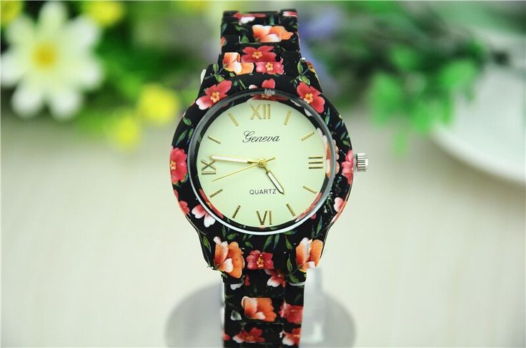 Flowers print high quality summer fashion girl watch