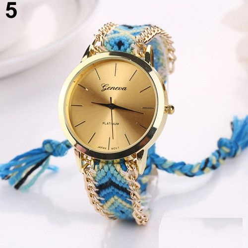 Hippie Cloth Band chain party Unisex Festival Watch