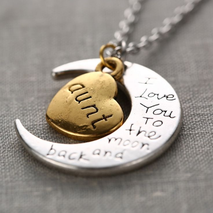 silvertone ip necklace i pebble walmart aunt you heart capital disc letter s com love