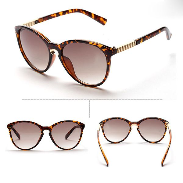 Vintage beach unisex summer leopard fashion sunglasses