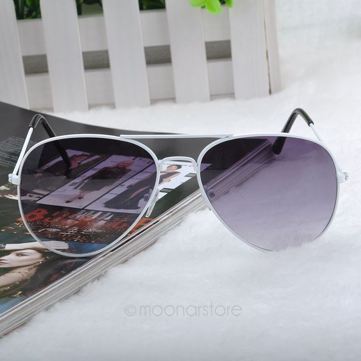 Summer pilot fashion elegant white woman sunglasses
