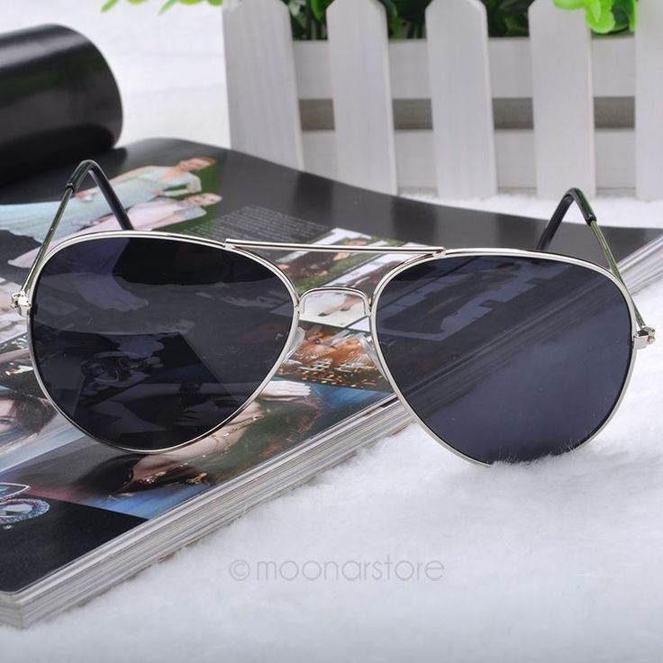 Summer Pilot Fashion Elegant silver frame Woman Sunglasses