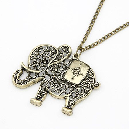 Good luck elephant pendant girl necklace