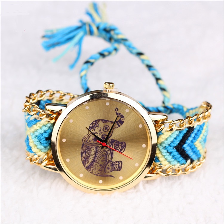 fabric wrist quality cloth photo girls sweet high gold design flower goods new fashion watch women ladies dress watches