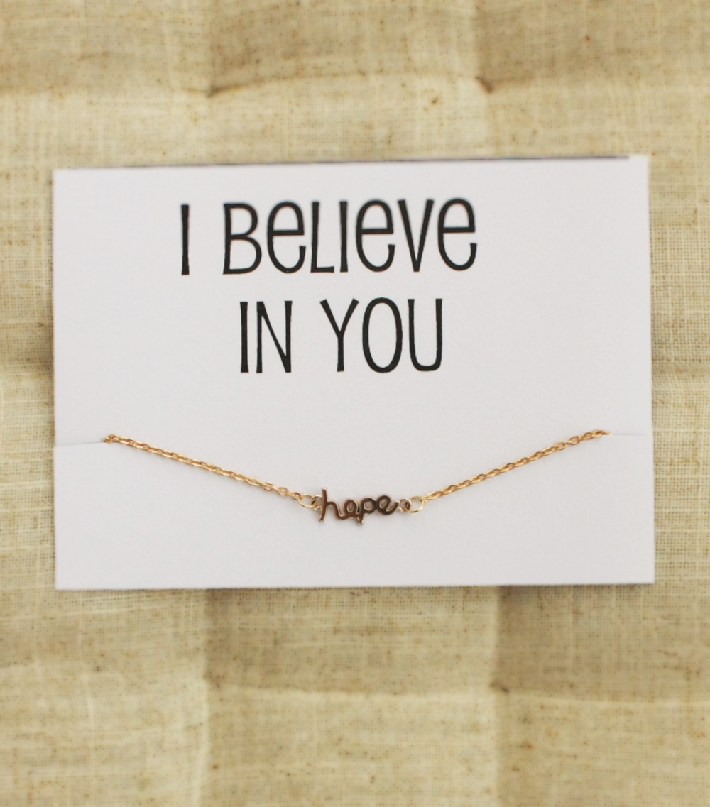 I Believe In You Gift Card For Friends And Family Charm Girl Hope ...
