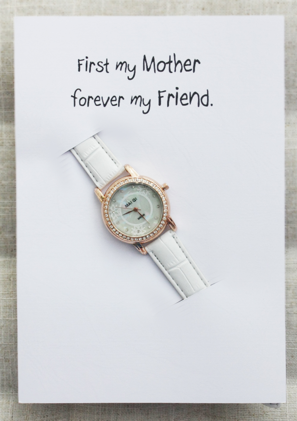 7a2d5124e6e2f First My Mother- Forever my Friend Card Note WristWatch girl woman Gift  Watch
