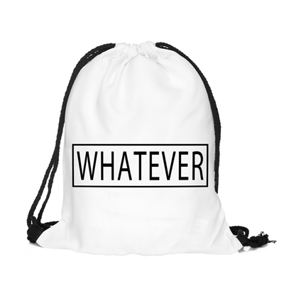 Back To School Wver Cool Pattern Funny Design Drawstring Bag Woman Backpack