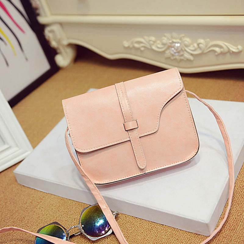 Messenger Shoulder Pink Fashion Long Shoulder bag PU Leather Woman Handbag