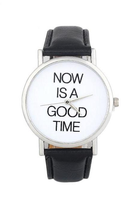 Now is a good time unisex black watch