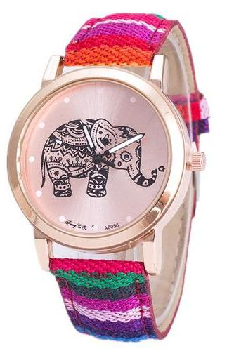 Bohemian Hippie Festival Woman Teen Girl Fashion Elephant Watch