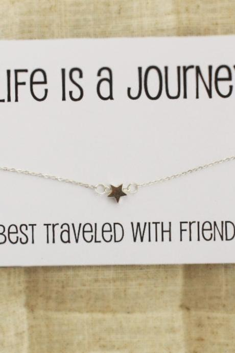 Life is a Journey Gift Card Bangle Fashion Woman Bracelet