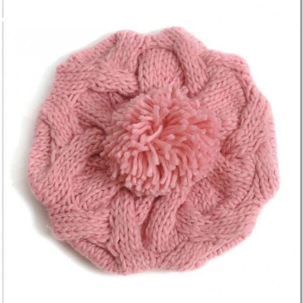 Sweet sixteen pompom winter cute girl hat