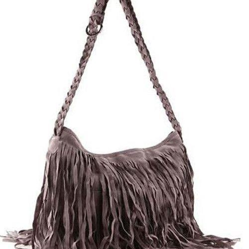 Fancy tassels shoulder woman handbag