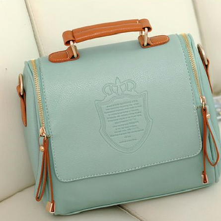 Elegant shoulder tote woman green handbag