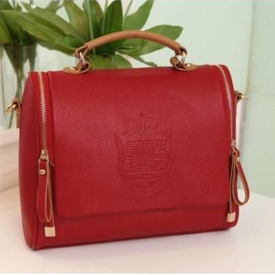 Elegant shoulder tote woman red handbag