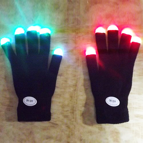 Light LED Gloves Gloving Party Unisex Finger Light Gloves
