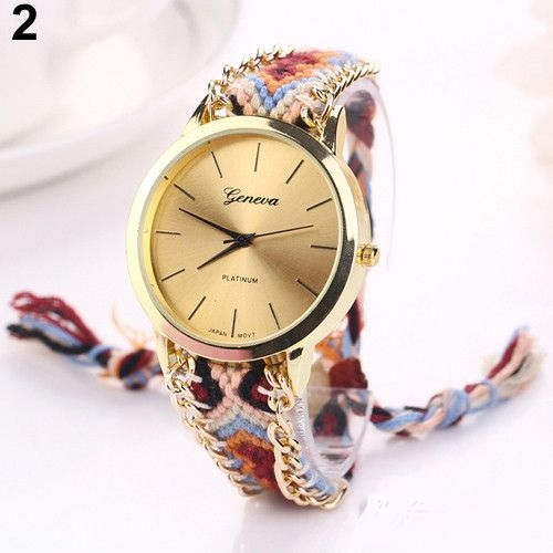 Hippie Cloth Strap Casual Festival Watch