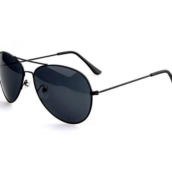 Pilot Aviator Black Lenses Sunglasses