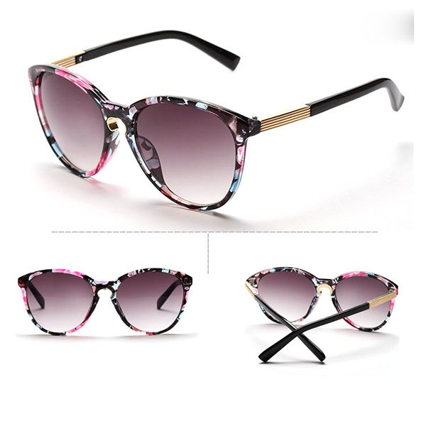 Vintage beach unisex summer colorful fashion sunglasses