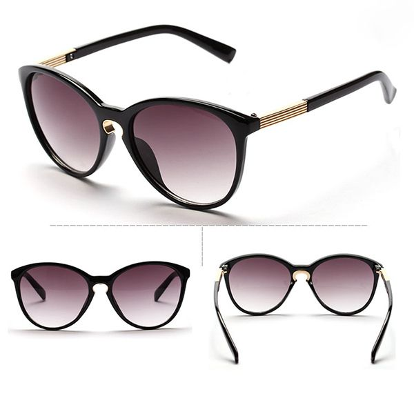 Vintage beach unisex summer black fashion sunglasses
