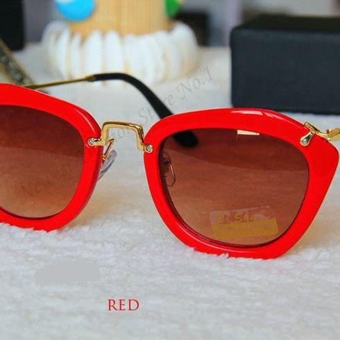 Fashion Retro Cat Eye Summer Red Accessory Sunglasses
