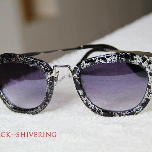 Fashion Retro Cat Eye Summer Black- Shivering Accessory Sunglasses