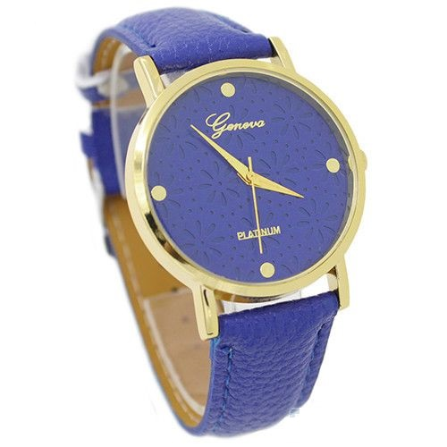 Cute Floral Teen Girl Blue Party Watch