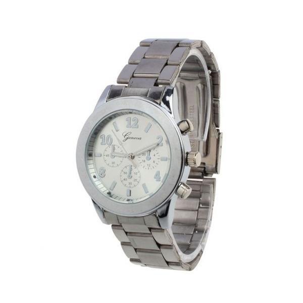 Stainless steel fashion dress silver woman watch