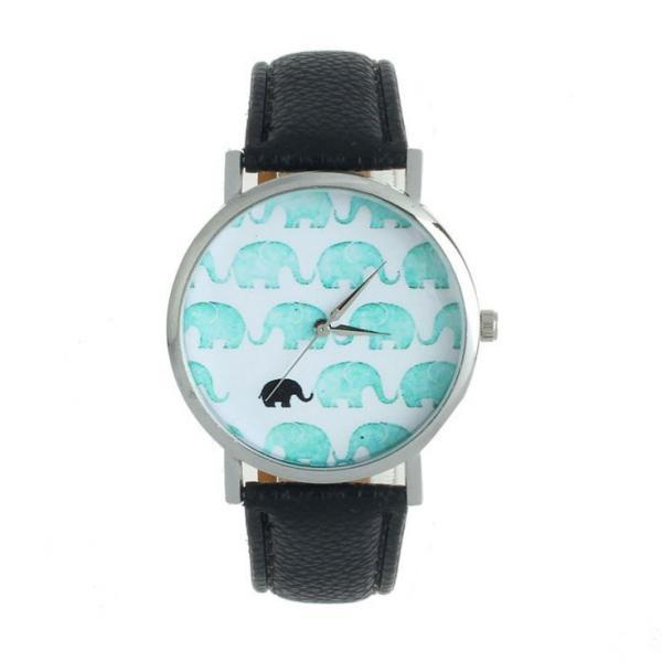 Teen elephants display cool unisex black watch