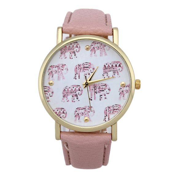 Pink Strap Elephnats Design Teen Unisex Girl Watch On Luulla-4364