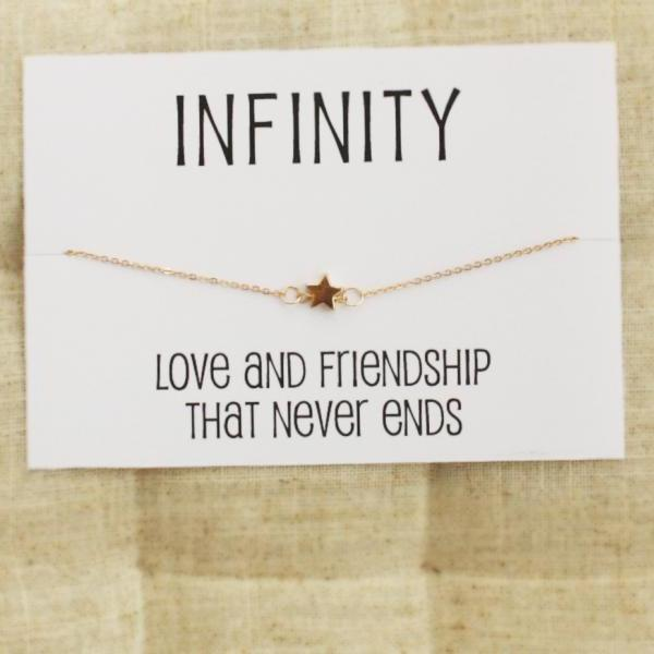 Love and Friendship bangle gift card wrapped fashion woman star bracelet