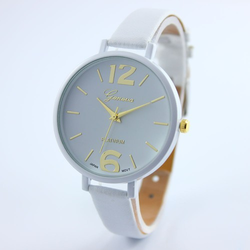 Blue Thin black Band Fashion teen Girl school summer woman watch