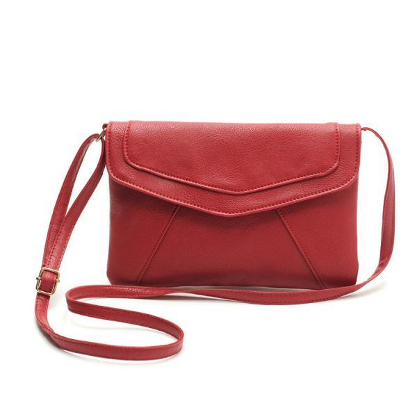 Women's Assorted Colours Cross Body Leather Handbag - Red