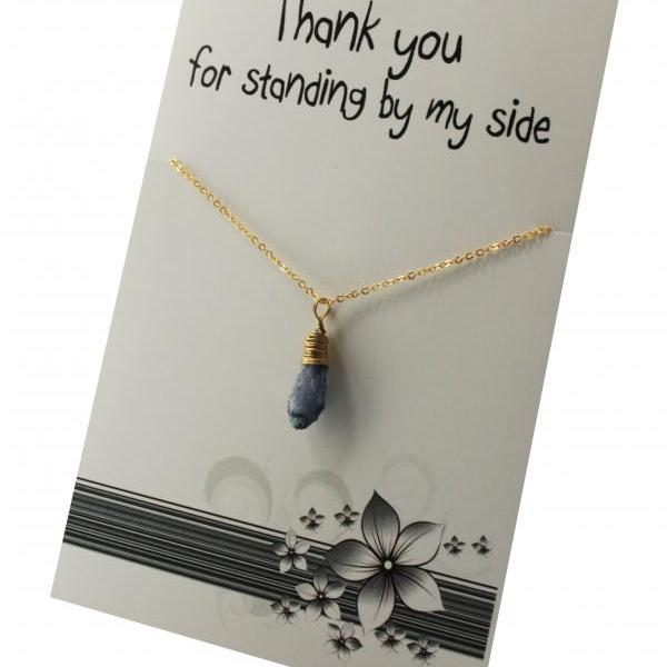 Thank You for standing by my side vinatge Pendant Necklace